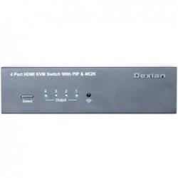 DEXLAN KVM HDMI 4K/USB/AUDIO 4 ports + Picture-in-Picture