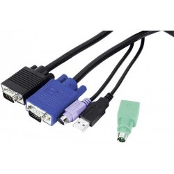 DEXLAN Cordon KVM combiné Type E3 Mixte USB+PS/2 1,80m
