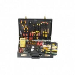 Mallette complète de 80 outils, sous forme d'attaché-case simili cuir serrure à code
