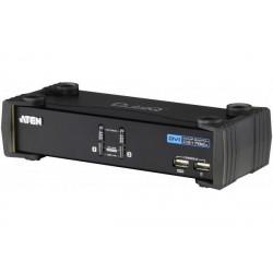 ATEN CS1762A KVM DVI / USB + Audio 2 ports avec cables