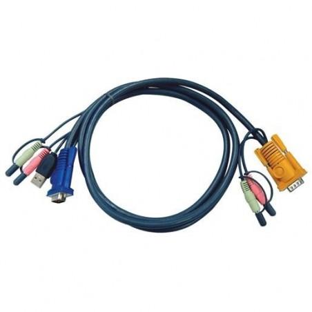 ATEN Câble KVM 2L-5305U - VGA/USB/AUDIO vers SPHD 5m