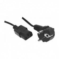DEXLAN Cordon électrique secteur standard noir 5m
