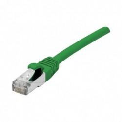DEXLAN Cordon patch RJ45 s/ftp sur cable cat 7 LS0H vert - 1 m
