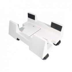 Support Unité centrale réglable 16-26 cm 4 roulettes Blanc