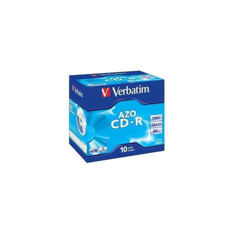 VERBATIM CD-R 80 700Mo Verbatim Pack de 10 boites cristal
