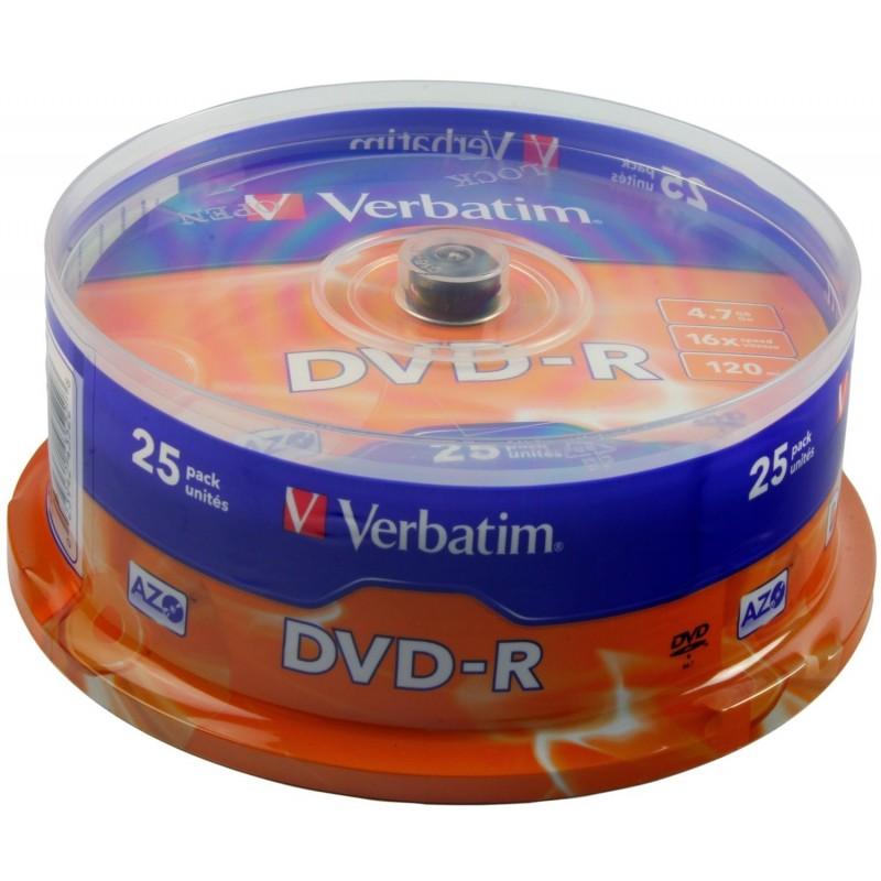 VERBATIM Boite de 25 dvd-R vierge 4.7Go verbatim
