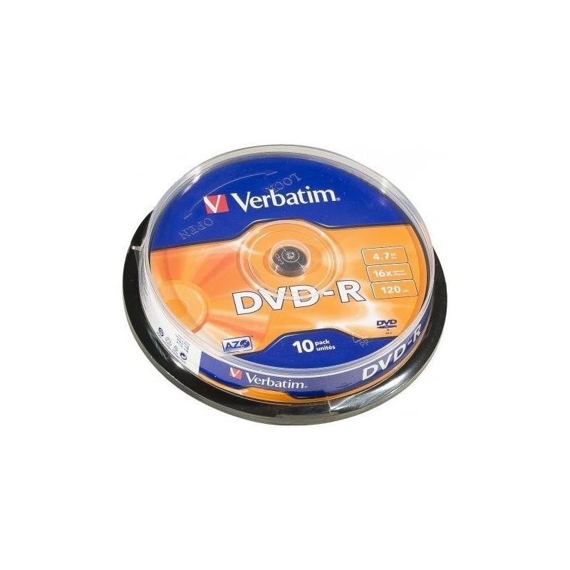 VERBATIM SPINDLE DE 10 DVD-R 16x 4,7GB VERBATIM
