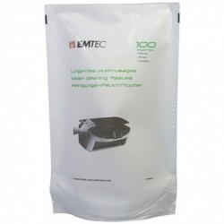 EMTEC Recharge 100 chiffonettes Humides pour boite Distributrice