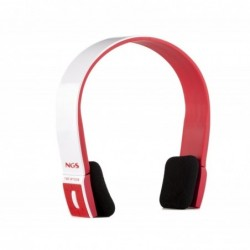NGS Casque audio Red Artica sans fil Bluetooth Rouge