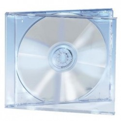 EDNET pack de 5 boitier de protection pour CD transparent crystal