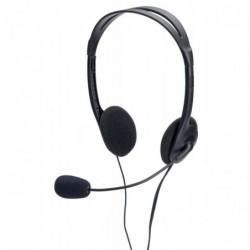 EDNET Stereo PC Headset avec volume control câble 1,8 m