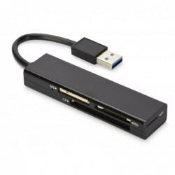 EDNET Lecteur de carte mémoire USB 3.0 4 ports Noir