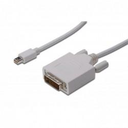 DIGITUS câble adaptateur mini DisplayPort DVI(24+1) 2.0m Blanc