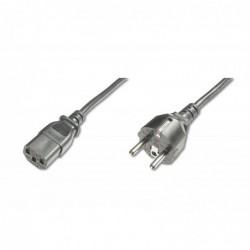 DIGITUS Câble d'alimentation Schuko C13 M/F. 1,2m. H05VVF3G 0.75qmm Noir