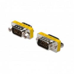 DIGITUS Adaptateur changeur de genre HD-Sub15 Mâle  / Mâle Métal