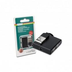 DIGITUS hub USB 2.0, 4 ports, noir compatible USB 2.0