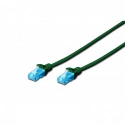 DIGITUS Câble patch RJ45 CAT 5e U-UTP PVC non blindé 4x2 awg 26/7  Vert 0,5 m