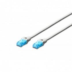 DIGITUS Câble patch RJ45 CAT 5e U-UTP PVC non blindé 4x2 awg 26/7  Blanc 1 m