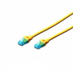 DIGITUS Câble patch RJ45 CAT 5e U-UTP PVC non blindé 4x2 awg 26/7  Jaune 2 m