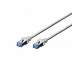 DIGITUS Câble patch RJ45 PVC AWG 26/7 CAT 5e SF/UTP Blindé Bt Bleu 15 m Gris
