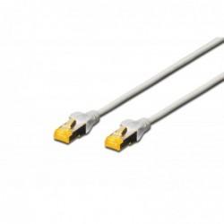 DIGITUS Câble patch, cat. 6A, S/FTP, 10,0 m, gris