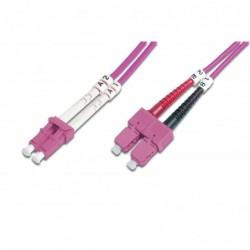 DIGITUS Câble Fibre Optique Duplex 50/125 OM4 SC LC Violet 10 m