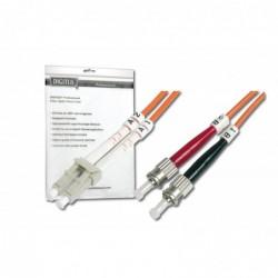 DIGITUS Câble Fibre Optique Duplex 62,5/125 OM1 ST LC Orange 1 m