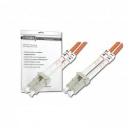DIGITUS Câble Fibre Optique Duplex 62,5/125 OM1 LC LC Orange 1 m