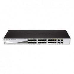 """D-LINK Switch 19"""" Websmart 24 ports Giga + 4 SFP"""