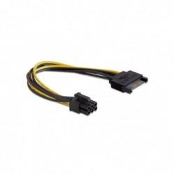 DELOCK Câble PCI Express SATA 15 broches vers 6 broches 21 cm