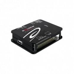 DELOCK Lecteur de cartes externe 64 en 1 USB 2.0 compact