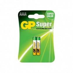 GP Blister de 2 Piles SUPER Alcaline AAAA / LR61