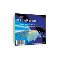 MEDIARANGE Pack de 20 CD/DVD Storage Media Case Incassable Assortis