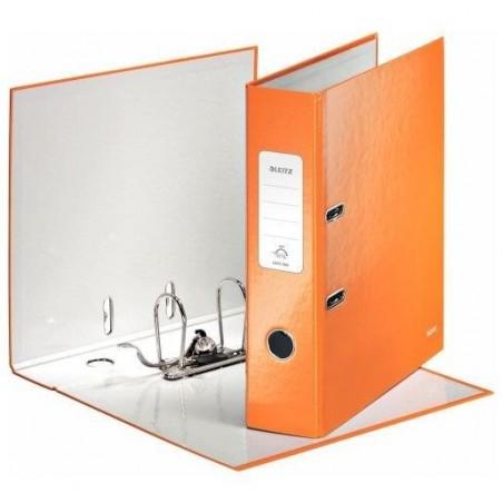LEITZ Classeur à levier 180° plastifié WOW Dos de 80 mm Orange
