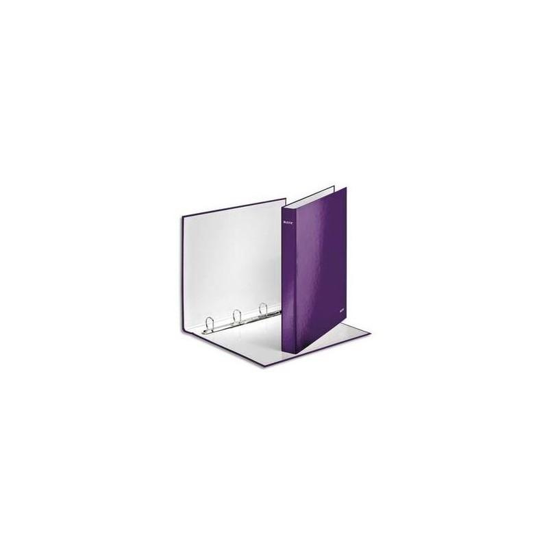 LEITZ Classeur à anneaux plastifié Leitz WOW violet A4