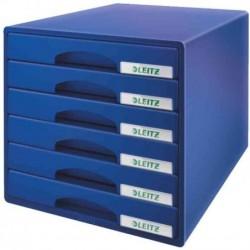 LEITZ Bloc de classement Plus 6 tiroirs - Bleu
