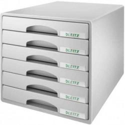 LEITZ Bloc de classement Plus 6 tiroirs - Gris