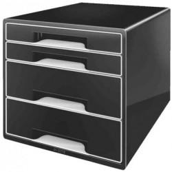 LEITZ Bloc de classement 4 tiroirs - Noir