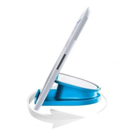 LEITZ Support de bureau rotatif pour tablette PC - Bleu métallisé