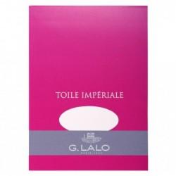 G.LALO Bloc toile impériale A5 50 feuilles 100g Blanc