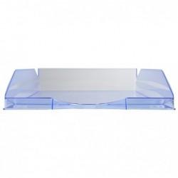 EXACOMPTA Corbeille à courrier ECOTRAY Linicolor bleu glacé transparent