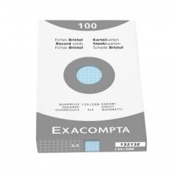 EXACOMPTA ETUI 100 F.BRISTOL AZUR 105/148 5X5