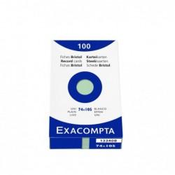 EXACOMPTA Étui de 100 fiches bristol uni non perforé 74x105mm Vert