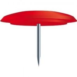 EXACOMPTA Boîte de 40 punaises hauteur de pointe 7mm 10mm de diamètre Rouge