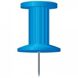 EXACOMPTA Boîte de 25 épingles Push Pins hauteur 7mm 10mm de diamètre Bleu clair