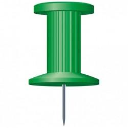 EXACOMPTA Boîte de 25 épingles Push Pins hauteur 7mm 10mm de diamètre Vert