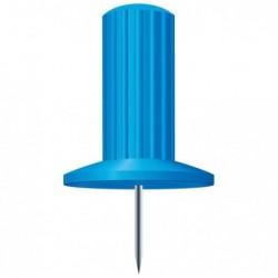 EXACOMPTA Boîte de 25 épingles Papic hauteur 7mm 10mm de diamètre Bleu clair