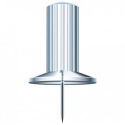 EXACOMPTA Boîte de 25 épingles Papic hauteur 7mm 10mm de diamètre Cristal