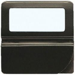 EXACOMPTA Boîte de 48 onglets unis à fenêtre 25mm de largeur Noir