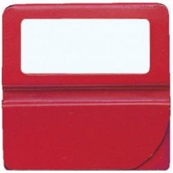 EXACOMPTA Boîte de 48 onglets unis à fenêtre 25mm de largeur Rouge